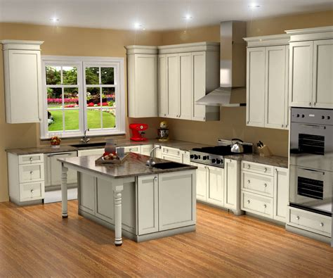 Traditional White Kitchen Design 3d Rendering Nick Kitchen Designs