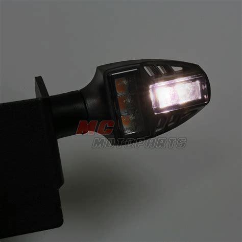 motorcycle led running lights t gun 12v led running turn signal lights for universal
