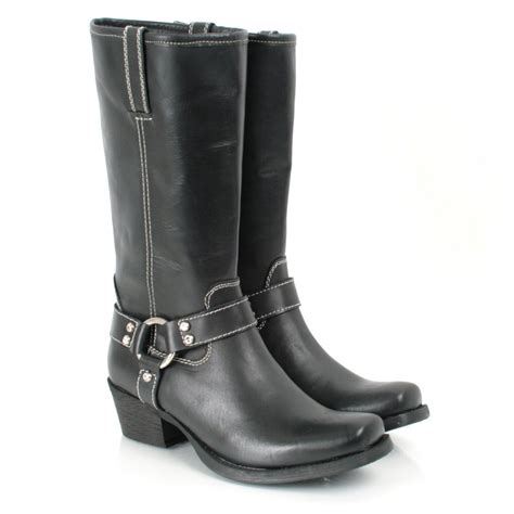 black claude s flat cowboy boot