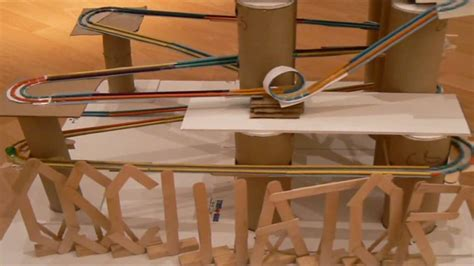 How To Make A Paper Roller Coaster Hill - the oscillator a marble roller coaster