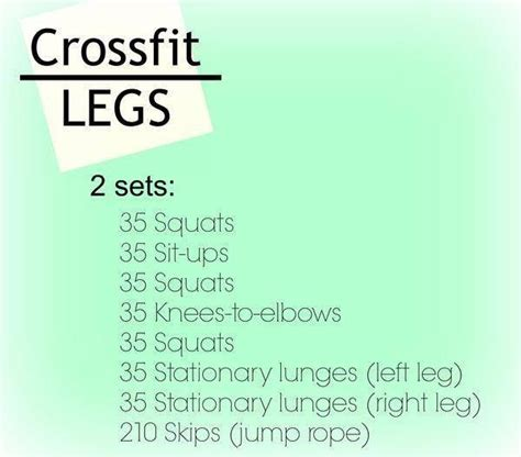 25 best ideas about crossfit leg workout on
