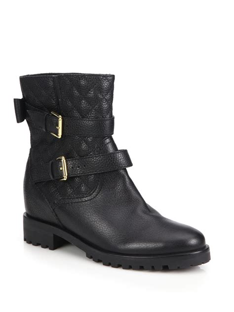 kate spade boots lyst kate spade new york samara quilted leather boots in