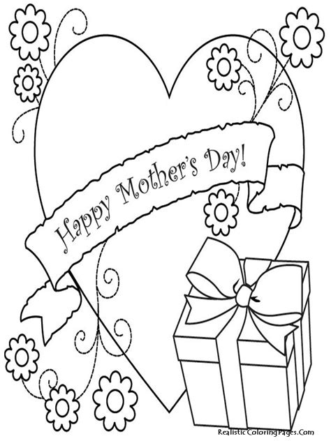 printable mothers day coloring pages realistic coloring