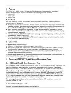 Employee Accident Report Template example incident management plan