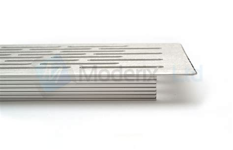 couch over heating vent aluminium white brushed chrome vent grill kitchen plinth