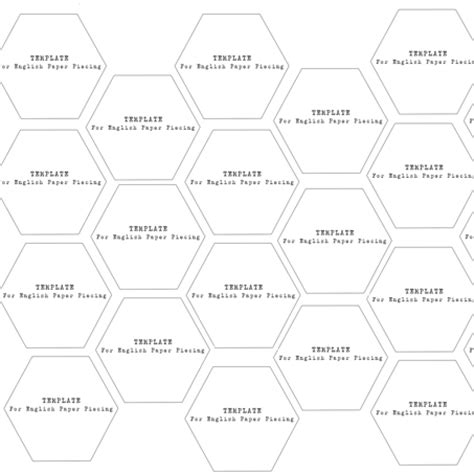 3 inch hexagon template hexagons 1 3 4 inch templates caroline