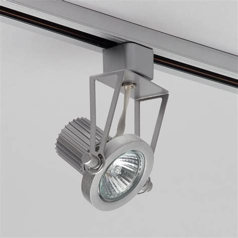 Gu10 Track Light Fixtures 1 Metre Track Light With 2 Gu10 Halogen Bulbs Silver