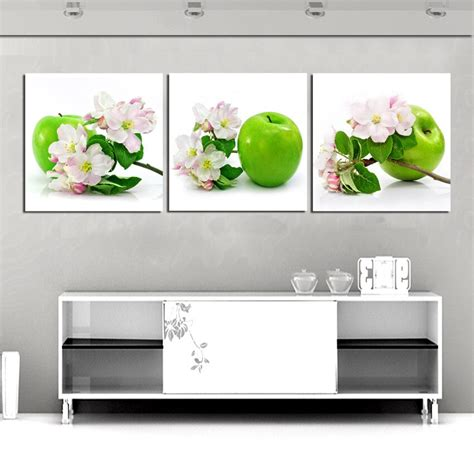 home decor canvas painting  panel wall art green