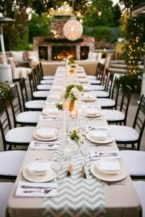 Chevron Table Linens - we heart outdoor dinner parties b lovely events