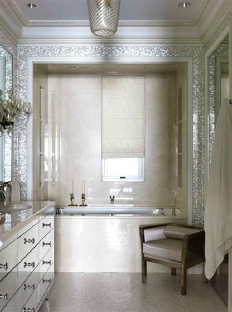 Beachy Chandeliers 26 White Glitter Bathroom Floor Tiles Ideas And Pictures