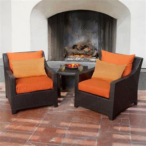 shop rst brands deco 3 wicker patio conversation set