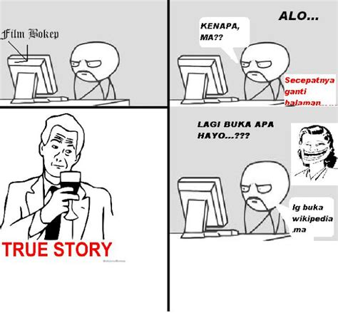 evolution meme indonesia true story