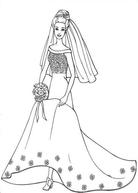 barbie dress coloring page barbie in dress 2 coloring page