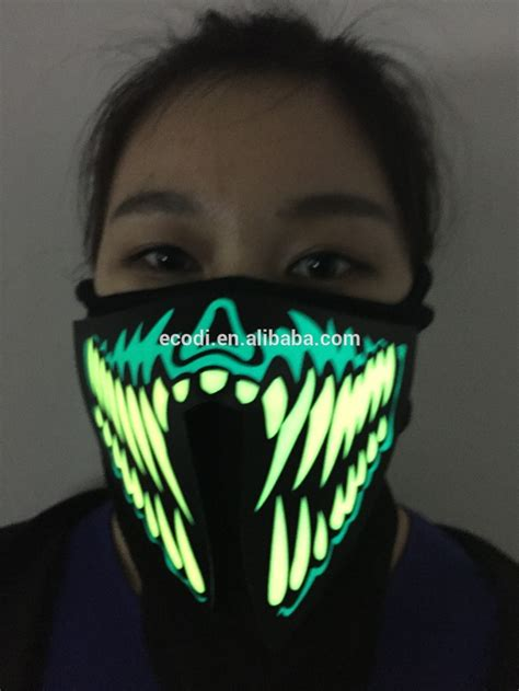 light mask custom sound activated led mask light mask