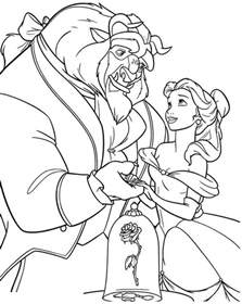 beauty beast coloring book az coloring pages