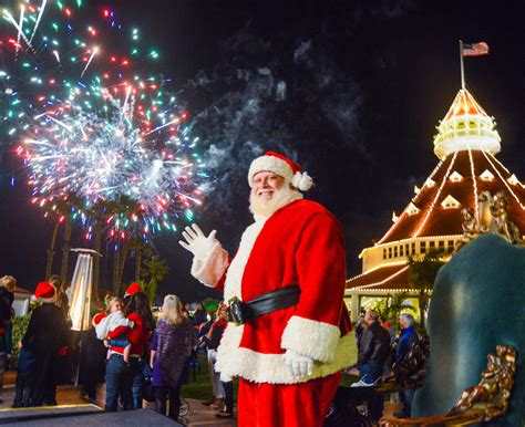 images of christmas festival holiday events at hotel del coronado