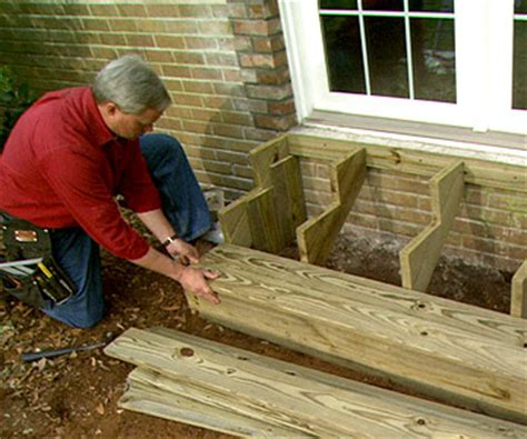 build wooden exterior steps