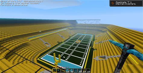 minecraft sports stadium football stadium minecraft project