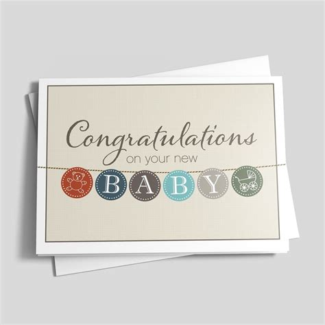 Congratulations For Baby Shower by Baby Buttons Congrats Card Birth Congratulations By