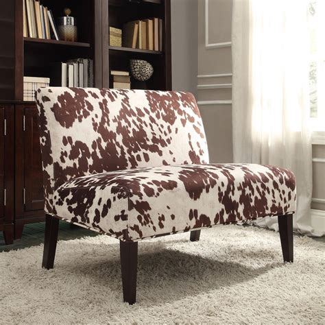 Cowhide Faux Fabric - inspire q wicker faux brown cow hide fabric 2 seater