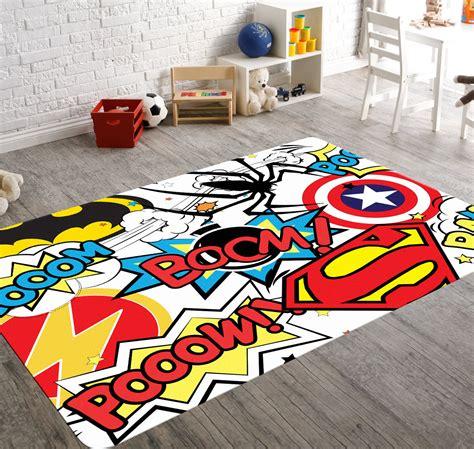 Superhero rug playroom rug superhero room decor kids