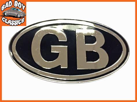 Emblem Plat Gb 1 Metal Gb Badge Emblem Self Adhesive Classic Car Kit Car