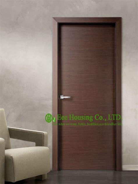modern flush wood door  sale walnut veneer interior