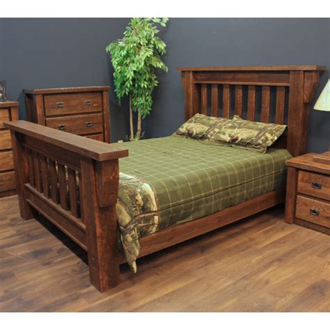 rough bed timberwood barnwood log bed barn wood log bed