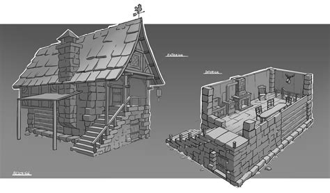 medieval house interior medieval rpg house interior and exterior by arjen sol on deviantart