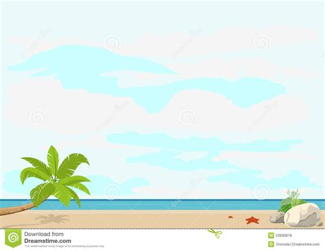 summer vacation and travel palm tree and starfish on a