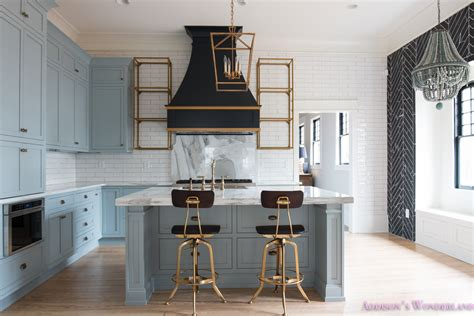 Bliss Home And Design Locations by Classic Vintage Modern Kitchen Blue Gray Cabinets Inset