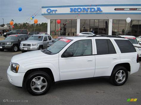 chevrolet trailblazer white 2009 summit white chevrolet trailblazer lt 26210487