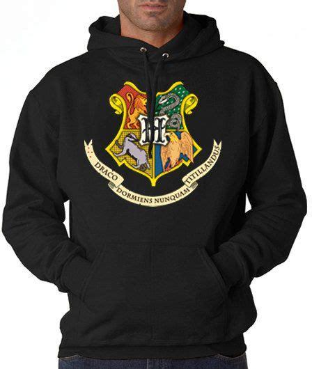 Hoodie Harry Potter Design Animasi T Shirt Sweater Hoodies Pria Keren design hogwarts coat of arms harry potter hoodie shirt t shirt and t shirt mens