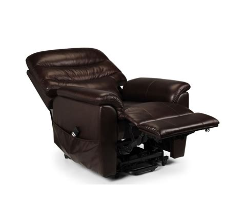 Recline And Rise Chairs by Harlow Brown Bonded Leather Rise Recliner Chair