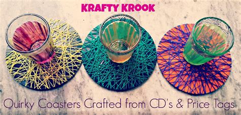 How To Make A Cd Cover Out Of Paper - krafty krook diy coasters from cd s and price tags