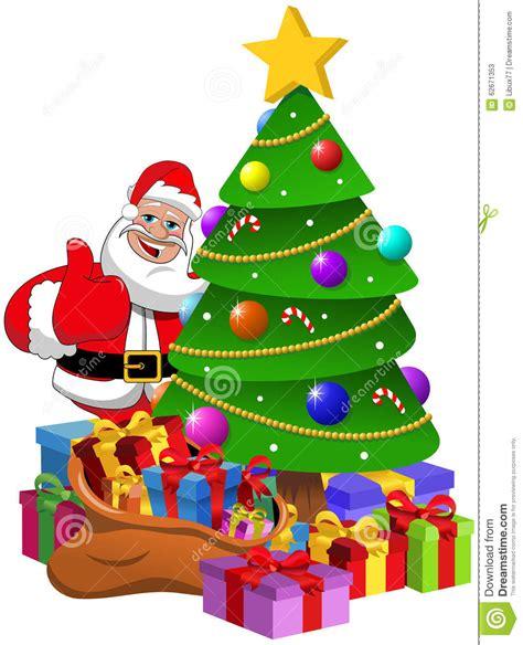 imagenes de santa claus y la navidad 193 rbol de navidad de santa claus thumb up con las cajas de