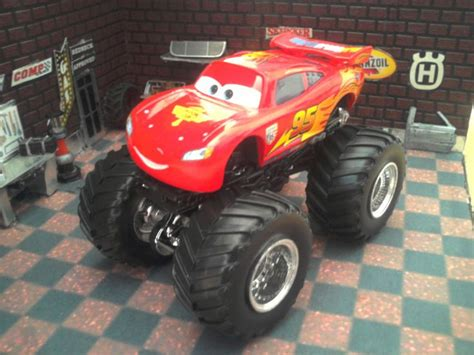 lightning mcqueen monster truck videos custom 1 64 pixar cars lightning mcqueen wheels