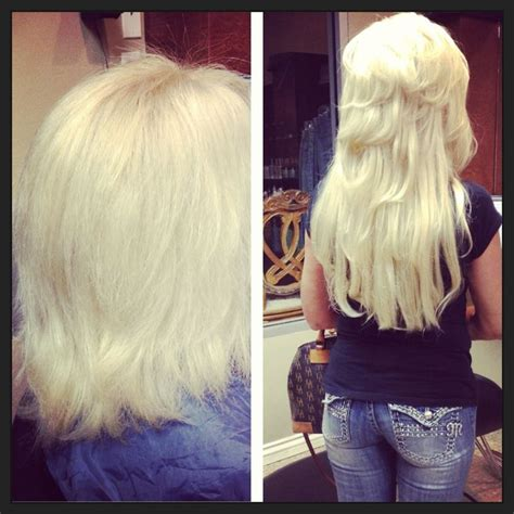 beaded weft extensions micro beaded weft extensions before and after