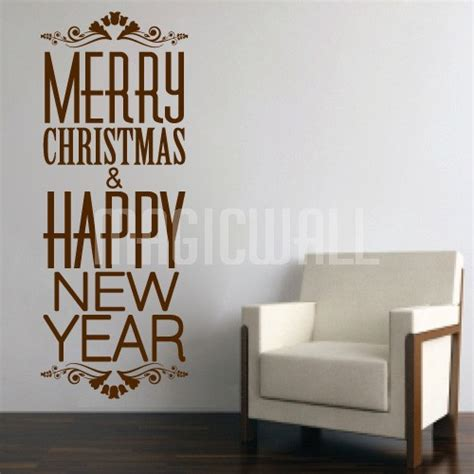 wall decals merry christmas and happy new year wall