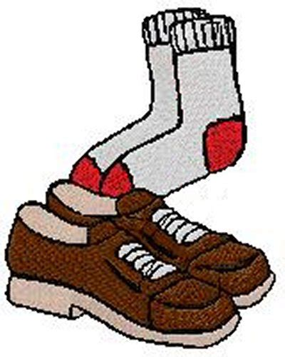 socks and shoes clipart