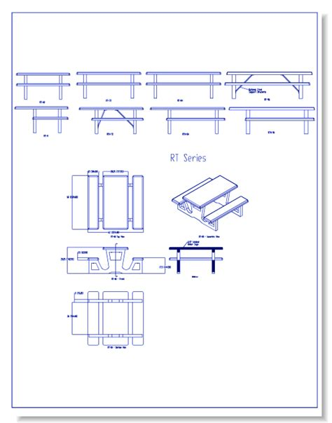 bench cad block picnic table autocad drawing image mag
