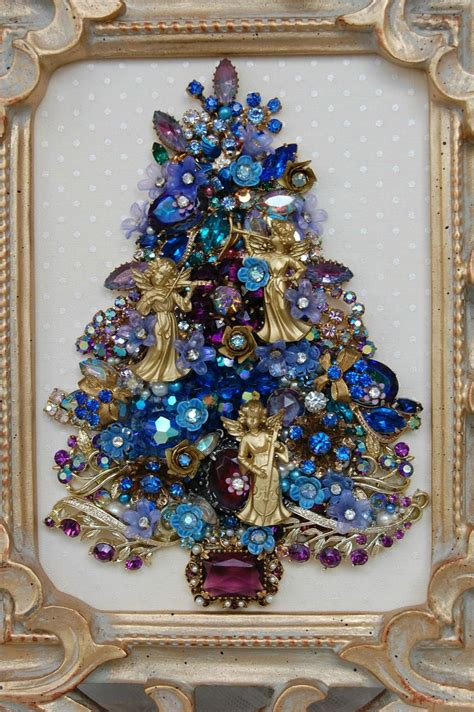 vintage jewelry christmas tree jewelry art pinterest