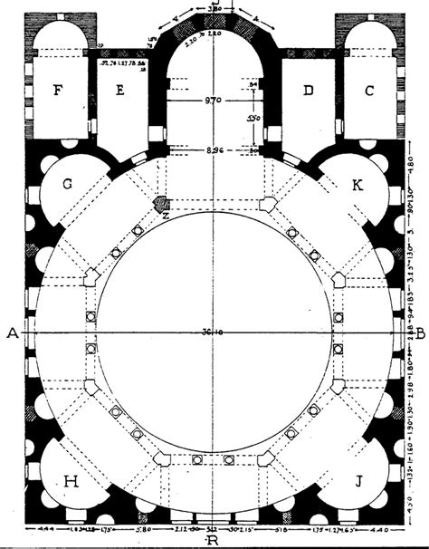 basilica floor plan traditional church floor plan notable the octagonal