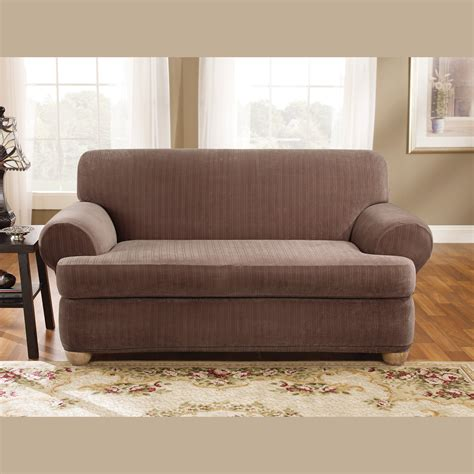 Sofa Recliner Sure Fit Recliner Covers For Easy Stretch Sure Fit Reclining Sofa Slipcover