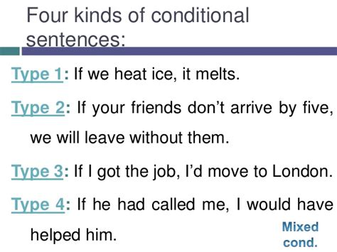 pattern of conditional sentence type 3 ise ii b2 conditional sentences