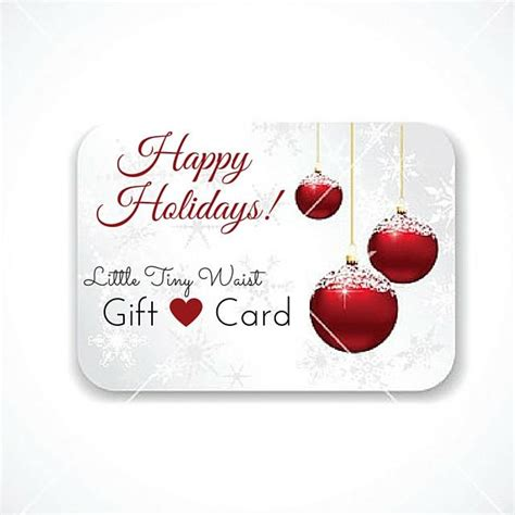 Gift Cards Sent To Email - gift card code will be sent to your email little tiny waist llc