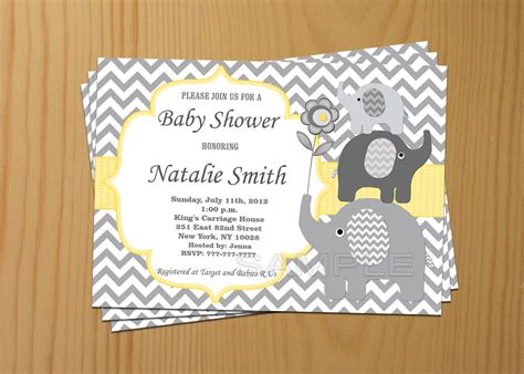 baby shower invitations elephant theme plumegiant
