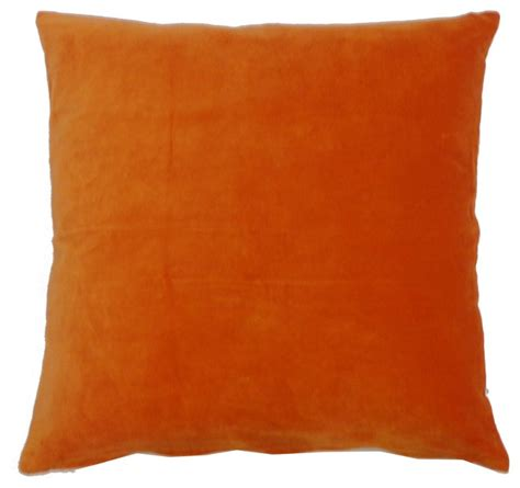Orange Decorative Pillows orange velvet pilow contemporary decorative pillows