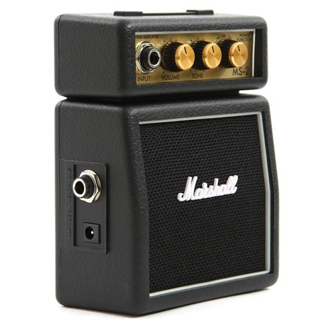Mini Portable Guitar Lifier Marshall Ms2 Original marshall ms2 mini guitar lifier speaker original black 1