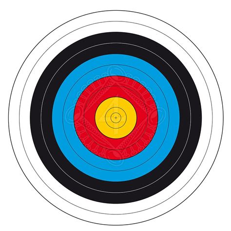 printable fita indoor targets archery target face fita 16 18m outfit4events